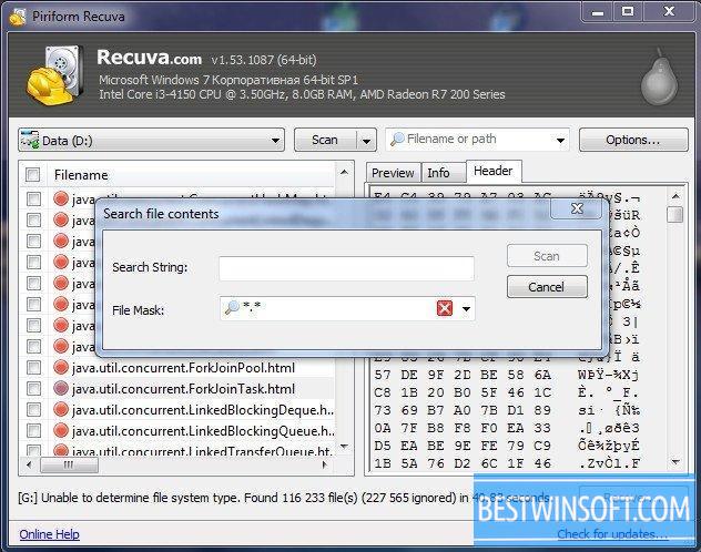 Recuva for Windows PC [Free Download]