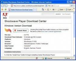 Adobe Shockwave Player Image 4