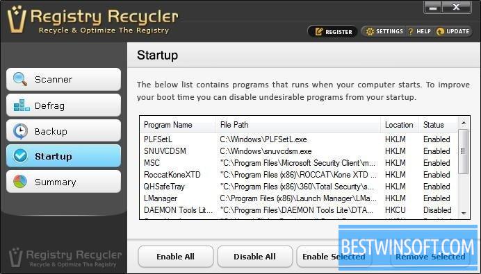 registry recycler windows 8.1